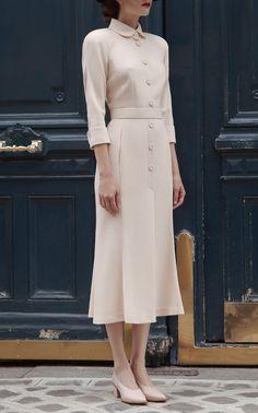 Ulyana Sergeenko Demi Couture Tailored Collar Midi Dress