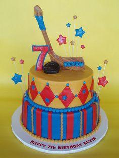 Hockey Themed Birthday cake