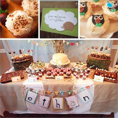 Retro Woodland 1st Birthday Party - Kara's Party Ideas - The Place for All Things Party