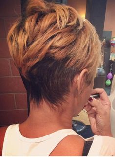 Cool back view undercut pixie  |