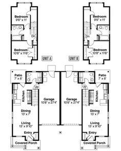 1000 images about duplex designs on pinterest duplex Duplex floor plans with double garage