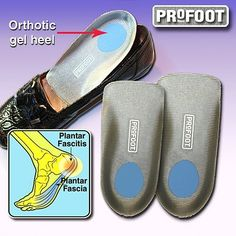 Planter Fasciitis Orthotic Support Men by PPR Direct Marketing. $11.98. One size fits most. Set of two slip into shoes. Forms a comfortable, impact-absorbing shield. Combine a firm arch and deep cup with protective Vita-Foam. Reduces pain and promotes the healing of damaged ligaments. Relieve Plantar Fasciitis Orthotic shoe supports combine a firm arch and deep cup with protective Vita-FoamTM and gel cushioning to form a comfortable, impact-absorbing shield for reducing pain an...