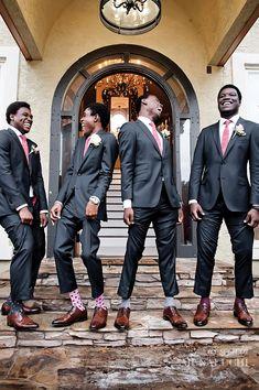 Pretty in Pink Backyard Wedding in Atlanta Planned by ellyb Events - Munaluchi Bridal Magazine sock game Wedding Poses, Wedding Men, Wedding Groom, Wedding Suits, Wedding Styles, Dream Wedding, Casual Wedding, Gown Wedding, Wedding Colors