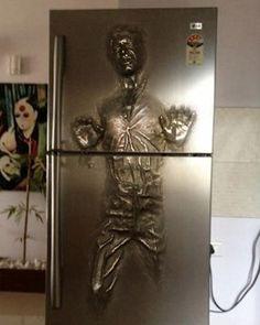 Han Solo Frozen in Carbonite Refrigerator — GeekTyrant