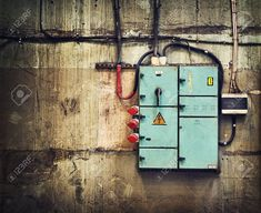 Electricity box on old wall - zamów plakat, obraz, naklejkę lub fototapetę Budgeting 101, Old Wall, Alleyway, Miniature Houses, Diorama, Miniatures, Box, Tmnt, Image