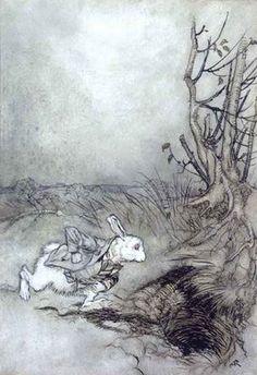 Arthur Rackham illustration for Alice in Wonderland
