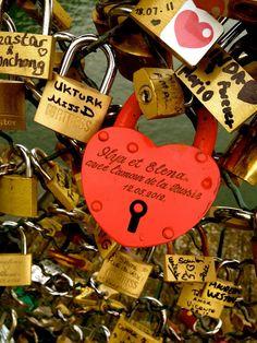 """love lock"" bridge."
