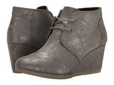 947124ca90f Toms desert wedge gunmetal metallic synthetic leather