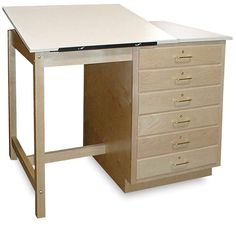 Drafting Table (fine Desk With Drawers And Add Adjustable Top Drafting Table )