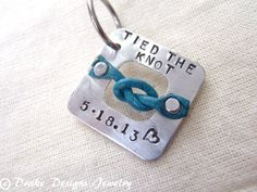 Something Blue Charm Rustic Wedding Personalized Bouquet charm Tied the Knot