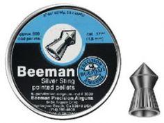 Beeman Silver Sting .177 Cal, 8.61 Grains, Pointed, 500ct Air Guns, Air Rifles, Pellet Guns, Gun, Guns, Rifle, Rifles, Target Rifles, Pellet Rifle, Benjamin, Crosman, AirForce, KalibrGun, Pellet, USA, 2ndamendment