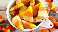 These cookies look like real candy corn! Kids of all ages will love this Halloween treat. Get this Halloween recipe from Jenna Weber of Eat, Live, Run.