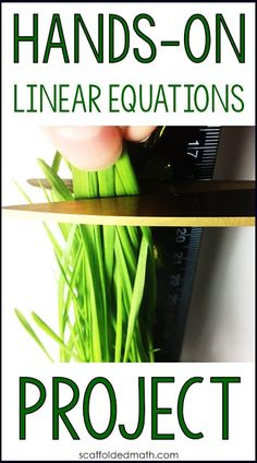 Are you looking for a fun, hands-on linear equations project? This algebra project was one Algebra Projects, Algebra Activities, Maths Algebra, Teaching Math, Teaching Secondary, Math Math, Secondary Resources, Math Vocabulary, Math Multiplication