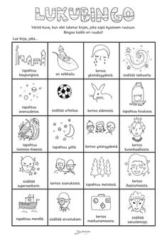Printable Crafts, Printable Worksheets, Finnish Language, Daily Five, Early Childhood Education, Bingo, Teaching, Writing, School