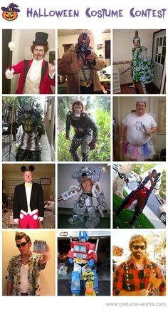 Homemade Costumes for Men - a lot of DIY costume ideas!