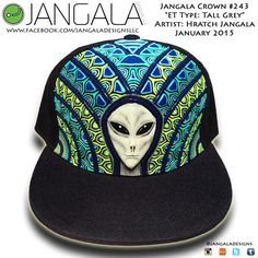 Jangala Alien Custom Hat by jangaladesigns on Etsy