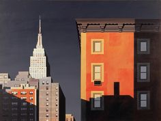 City painting by Michael Kidd City Sketch, City Illustration, Morning Light, Urban Landscape, Best Cities, Art Techniques, Travel Posters, Art Pictures, New York City
