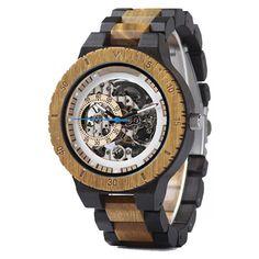 Handmade Wooden Mechanical Watch For Menmen mechanical watch Army Watches, Seiko Watches, Sport Watches, Watches For Men, Wrist Watches, Rolex Submariner, Rolex Daytona, Wooden Man, Wooden Gifts