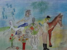 Horse - The country - Giclee on canvas - Limited edition