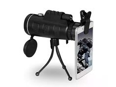 Zoomable 60X Monocular with Smartphone Attachment: Your Smartphone Will Get an Added Zoom with This Universal Lens Attachment