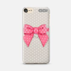 iPod Touch 6 Case Pink Bow Dots
