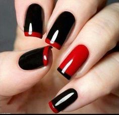 Red & black french