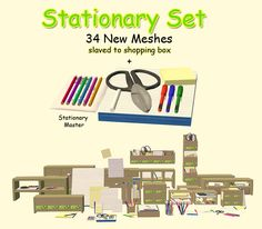 Sims 2 Stationary Set - Downloads - BPS Community