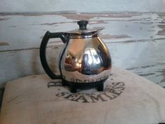 Sunbeam coffeemaster in chrome and black Art by happydayantiques, $16.00