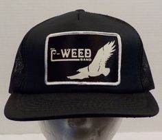 C Weed Band Truckers Baseball Hat Cap Snap Back Vintage by LouisandRileys on Etsy