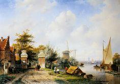 Charles Leickert ~ Belgian Painter 1816-1907 ~Dutch Landscape ~ Художник