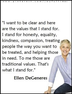 We need more people like Ellen in this world. Love Me Quotes, Quotes To Live By, Happy Thoughts, Random Thoughts, Random Things, Quotable Quotes, Funny Quotes, Start Where You Are, Having Patience