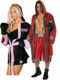 Couples Costumes. halloween costumes couples Boxing Couples Costume - Adult Boxing Couple Halloween Costume, PIN10 for 10% off