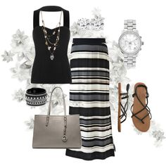 """maxi skirt outfit idea"" things to wear"