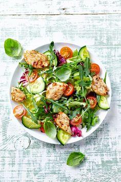 Kalorienarmes Abendessen: Salat
