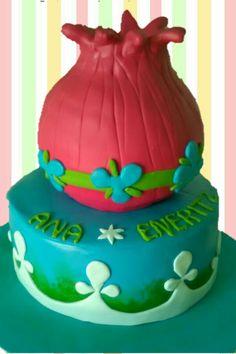 Princess Poppy Trolls cake by dulcemelcocha