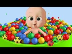 Learn colors with Baby and balls - YouTube