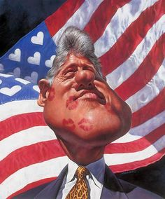 Bill Clinton Caricature, by Sebastian Kruger.  A close look at it reveals, of course, the true Clinton legacy.  Such a clown.