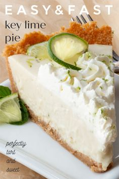 No Bake Desserts, Easy Desserts, Dessert Recipes, Dessert Ideas, Key Lime Cheesecake, Cheesecake Recipes, Lime Recipes, Sweet Recipes, Key Lime Pie Rezept