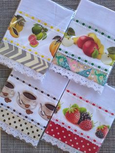 Dish Towel Crafts, Dish Towels, Tea Towels, Crochet Projects, Sewing Projects, Hanging Towels, Pot Holders, Tatting, Sewing Crafts