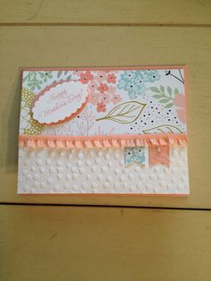 Mother's Day  Stampin' Up card made to order FREE by bduwe on Etsy, $2.00