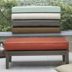 Shop for Yasawa Wood Grey Patio Cushioned Rectangular Coffee Table Ottoman by NAPA LIVING. Get free delivery at Overstock.com - Your Online Garden