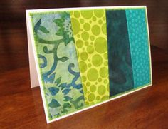 Fabric Stitched 5x7 Card