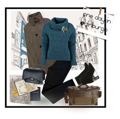 """""""One cape for a short trip"""" by gagenna ❤ liked on Polyvore featuring Moleskine, J Brand, Lowie, Mark & Graham, Givenchy, ebags, Capes, vestiairecollective and popmap"""
