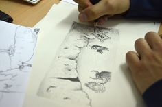 Bisonterías. Álbum ilustrado de Omar Clemente. Work in progress. Bison