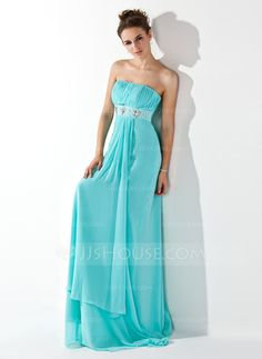 Evening Dresses - $119.99 - Empire Strapless Sweep Train Chiffon Evening Dress With Ruffle Beading (017013773) http://jjshouse.com/Empire-Strapless-Sweep-Train-Chiffon-Evening-Dress-With-Ruffle-Beading-017013773-g13773