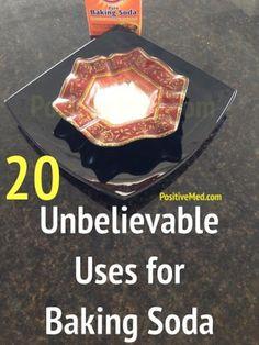 20 Unbelievable Uses For Baking Soda http://positivemed.com/2014/07/15/uses-for-baking-soda/