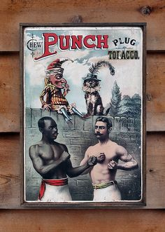 NEW Vintage wooden sign 'Punch Tobacco' Reproduction by VASSdesign