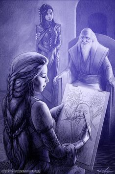 (1) Shallan and Taravangian by Steve Argyle : Stormlight_Archive