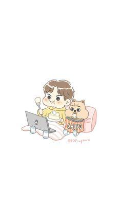 Cute Cartoon Wallpapers, Animes Wallpapers, Santa Pictures, Cute Pictures, K Pop, Kids Fans, K Wallpaper, Baby Squirrel, Quokka