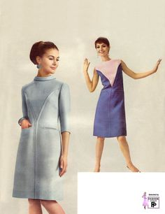 1960s womens fashion (1966) + perfect make up!